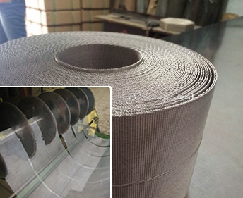 Stainless Steel Wire Mesh Belt Filter Screen For Extruder
