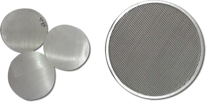 stainless steel mesh disc flat filter cloth refining screen